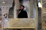 Abu Bark Bagdhadi, en una intervención en el año 2017