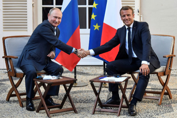 French President Emmanuel <HIT>Macron</HIT> meets with Russia&amp;apos;s...