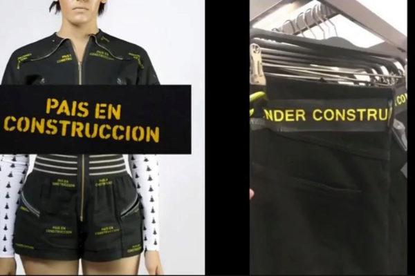 A la izquierda el diseño de la marca cubana Clandestina y a la derecha la prenda de Zara.