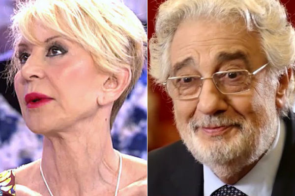 """Karmele Marchante acusa a Plácido Domingo de acercarse """"más de la..."""