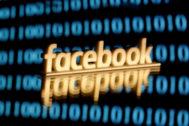 El logo de Facebook impreso en 3D