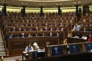 El Congreso de los Diputados durante la pasada sesión de investidura fallida de Pedro Sánchez.
