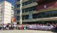 Concentración en recuerdo de Gema en la puerta del Ayuntamiento de Fuenlabrada.