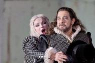 Anna Netrebko y Plácido Domingo, en la Staatsoper de Berlín en 2013.