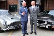 El príncipe de Gales y Daniel Craig, durante el rodaje de la película.