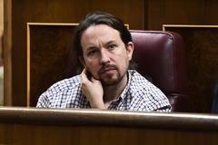 Pablo Iglesias, durante la sesión de investidura