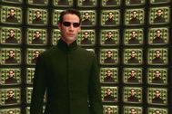 Keanu Reeves en el papel de Neo.