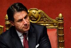 El ex primer ministro italiano, Giuseppe Conte, ayer martes, en el parlamento italiano.