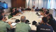 Primera reunión de la mesa de seguimiento policial presidida por Beltrá de Heredia.