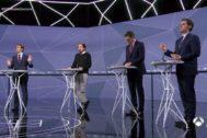 Imagen de uno de los últimos debates electorales.