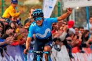 Carapaz, en la Vuelta Ciclista a Asturias 2019.
