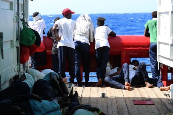 Off Sea (--), 14/08/2019.- A handout photo dated 14 August 2019 and...