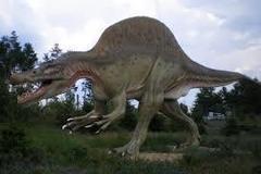 Recreación de un espinosaurio.