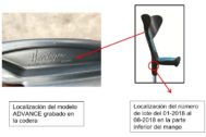 Imagen del modelo de muletas retirado.