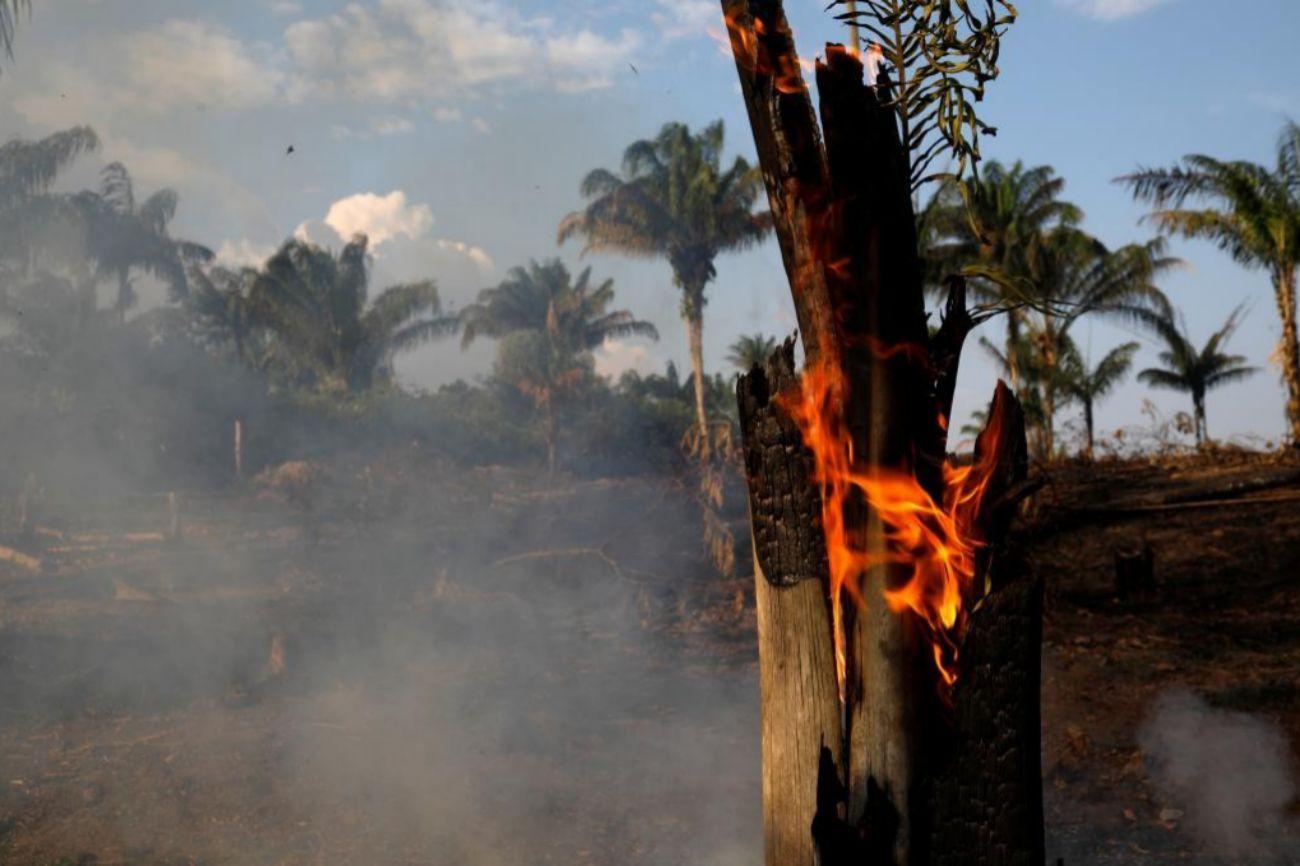La extensión de los incendios ha obligado a algunos estados...