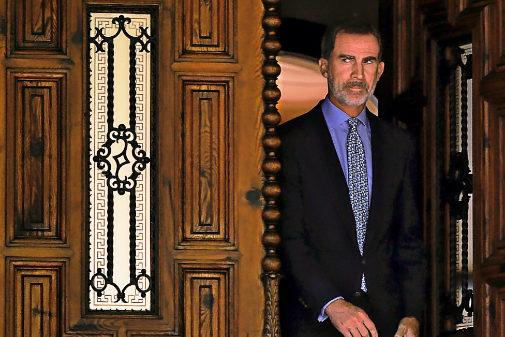 Felipe VI, en el palacio de Marivent de Palma