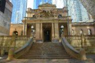 Una corte en el centro de Sídney, Australia.