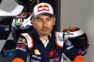 Jorge Lorenzo, durante la rueda de prensa en Silverstone.