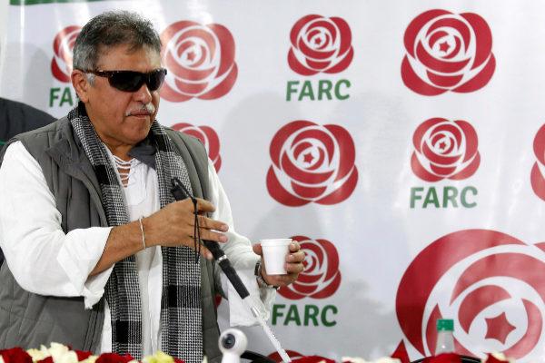 FILE PHOTO: Colombia&apos;s Marxist FARC Jesus <HIT>Santrich</HIT> during a...