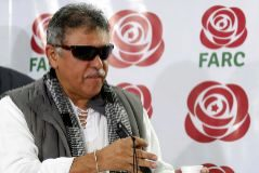 FILE PHOTO: Colombia's Marxist FARC Jesus <HIT>Santrich</HIT> during a news conference in Bogota