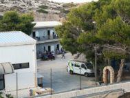 Imagen del centro de acogida en Lampedusa.