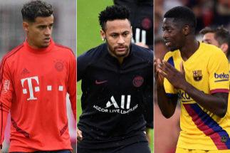 Coutinho, Neymar y Dembélé.