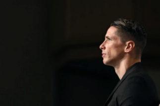 Fernando Torres, el día que anunció su retirada.