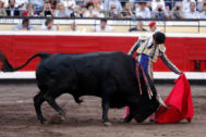 Extraordinario natural de Luis David Adame al último toro de la gran corrida de Garcigrande-Domingo Hernández