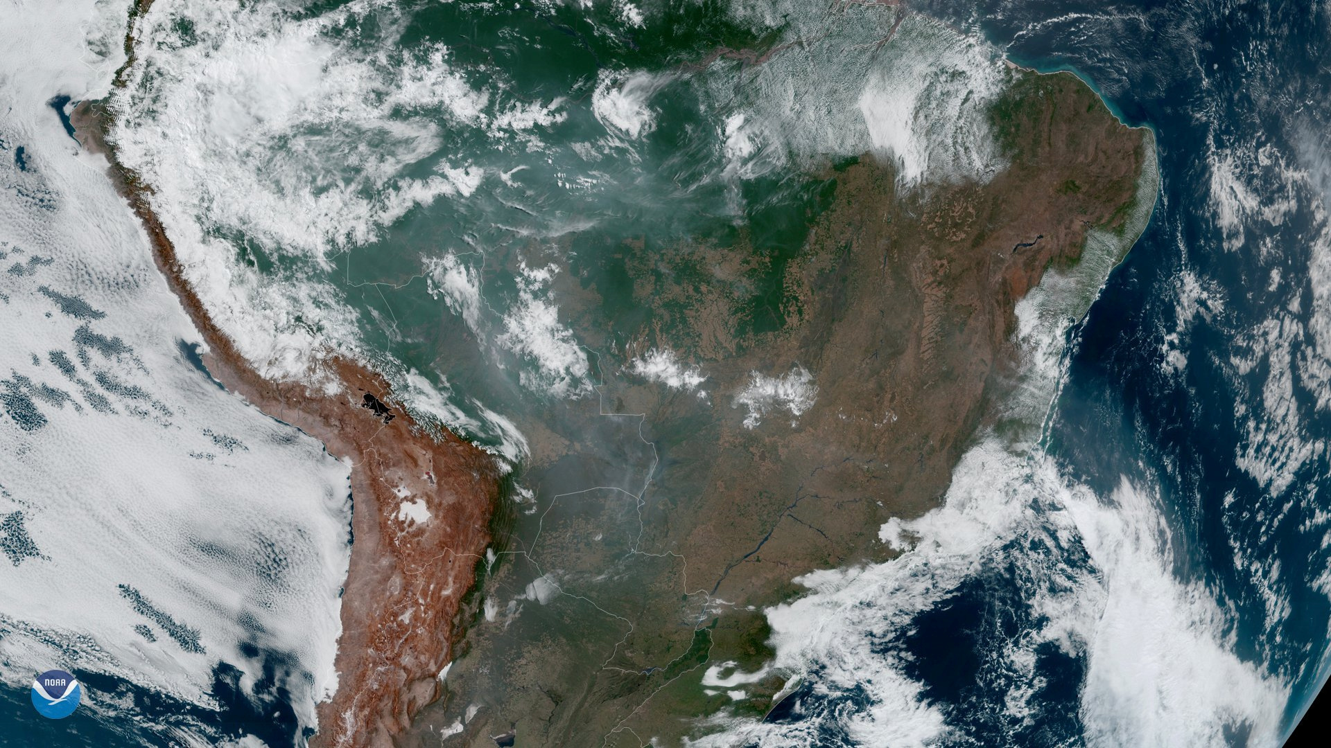Fires, burning in the <HIT>Amazon</HIT> Rainforest, are pictured from space, captured by the geostationary weather satellite GOES-16 on August 21, 2019 in this handout image obtained from social media. NASA/NOAA/Handout via REUTERS THIS IMAGE HAS BEEN SUPPLIED BY A THIRD PARTY