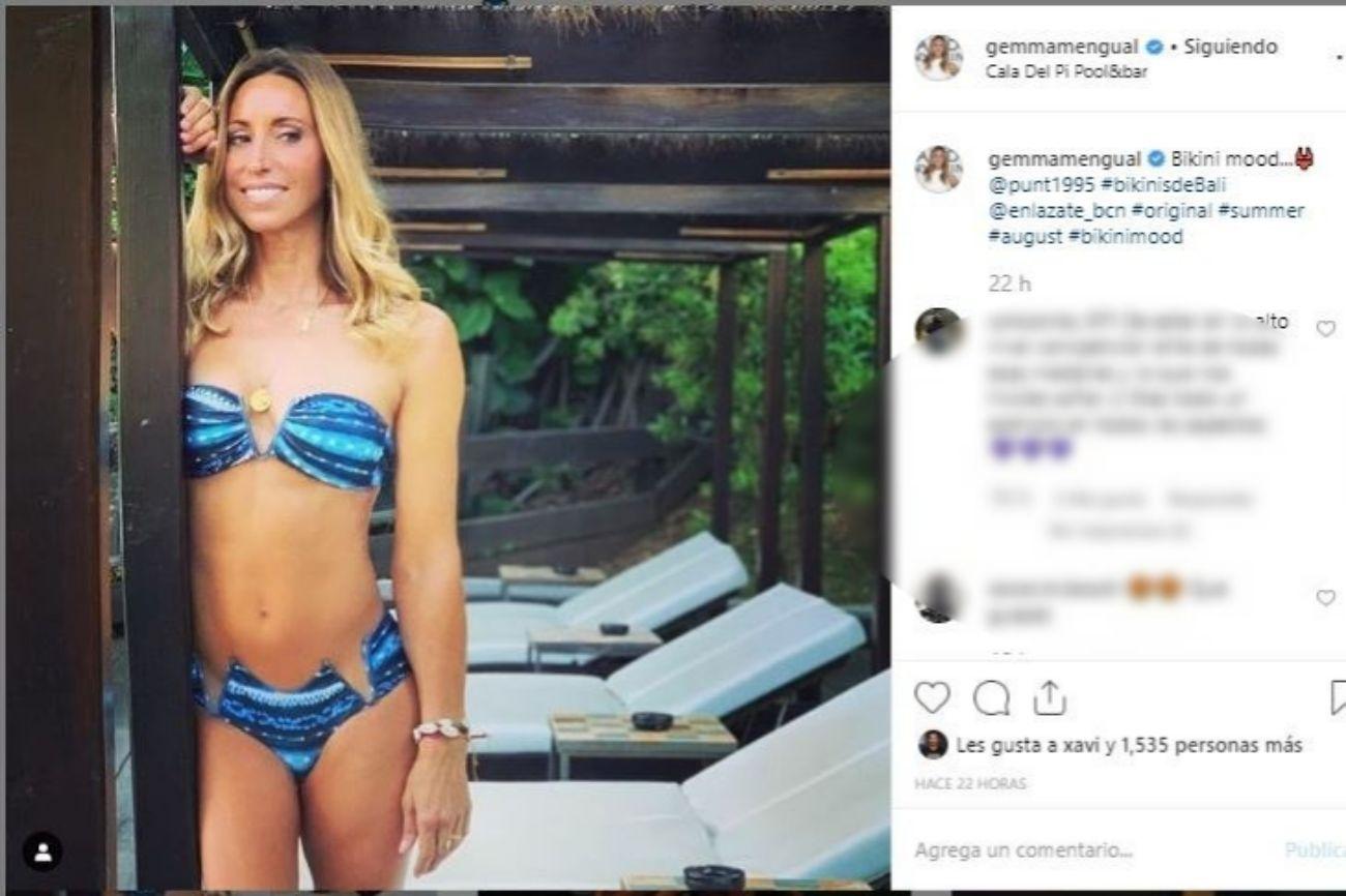 Gemma Mengual (42) está pasando su primer verano soltera. La nadadora...