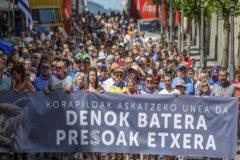 Manifestación a favor de los presos en Bilbao.