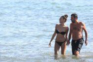 Matteo Salvini y Francesca Verdini en la playa