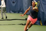 Rafa Nadal, durante un entrenamiento para el US Open.