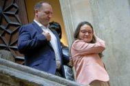 Los vicepresidentes del Consell, Rubén Martínez Dalmau y Mónica Oltra en el Palau.