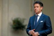 El hasta ahora primer ministro italiano, Giuseppe Conte, en Roma.