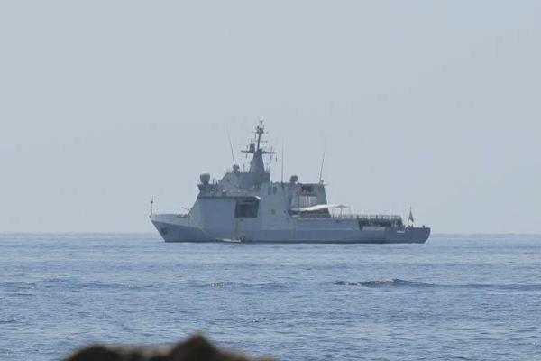 El Open Arms visto desde Lampedusa.