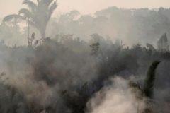 Una imagen de los incendios en el Amazonas.