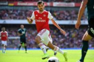 London (United Kingdom).- <HIT>Arsenal</HIT>'s Dani Cabellos in action during the English Premier League soccer match between <HIT>Arsenal</HIT> and Burnley at the Emirates Stadium in London, Britain, 17 August 2019. (Reino Unido, Londres) EPA/ EDITORIAL USE ONLY. No use with unauthorized audio, video, data, fixture lists, club/league logos or 'live' services. Online in-match use limited to 120 images, no video emulation. No use in betting, games or single club/league/player publications