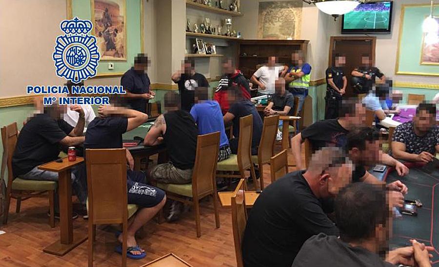 Desarticulado un club clandestino que celebraba torneos ilegales de póker en San Sebastián de los Reyes