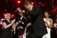 Obama, bailando el día de su toma de posesión como presidente en 2009.