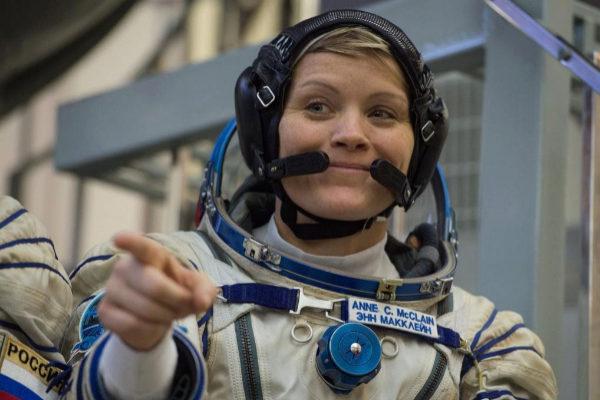 La astronauta Anne McClain, miembro de la Estación Espacial Internacional.