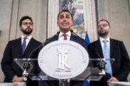 El líder del Movimiento 5 Estrellas, Luigi di Maio, en una rueda de prensa en Roma.