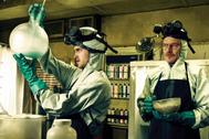 Jessi Pinkman y Walter White, fabricando metanfetamina.