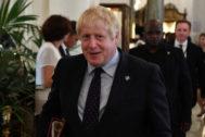 El primer ministro británico, Boris Johnson, en Biarritz, Francia.