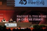 Un momento de la intervención de Guadalupe Arbona en Rimini.