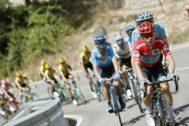 GRAF700. BENIDORM (ALICANTE).- El pelotón durante la segunda etapa de la <HIT>Vuelta</HIT> a España 2019, etapa con salida en Benidorm y meta en Calpe, con un recorrido de casi 200 kilómetros.