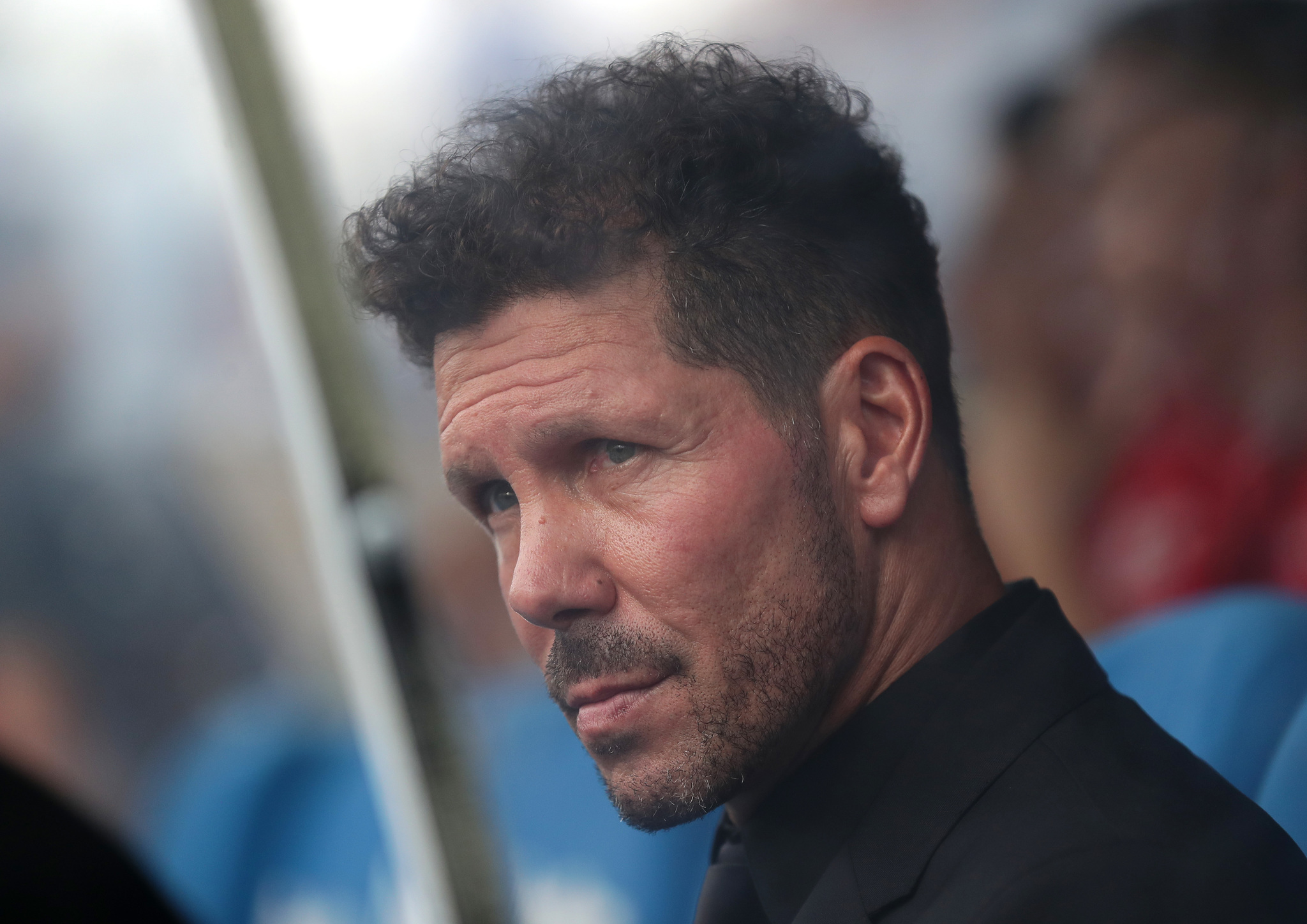 LEGANES, SPAIN - AUGUST 25: Diego <HIT>Simeone</HIT>, Head coach of Atletico de Madrid looks on prior to the Liga match between CD Leganes and Club Atletico de Madrid at Estadio Municipal de Butarque on August 25, 2019 in Leganes, Spain. (Photo by Gonzalo Arroyo Moreno/Getty Images)