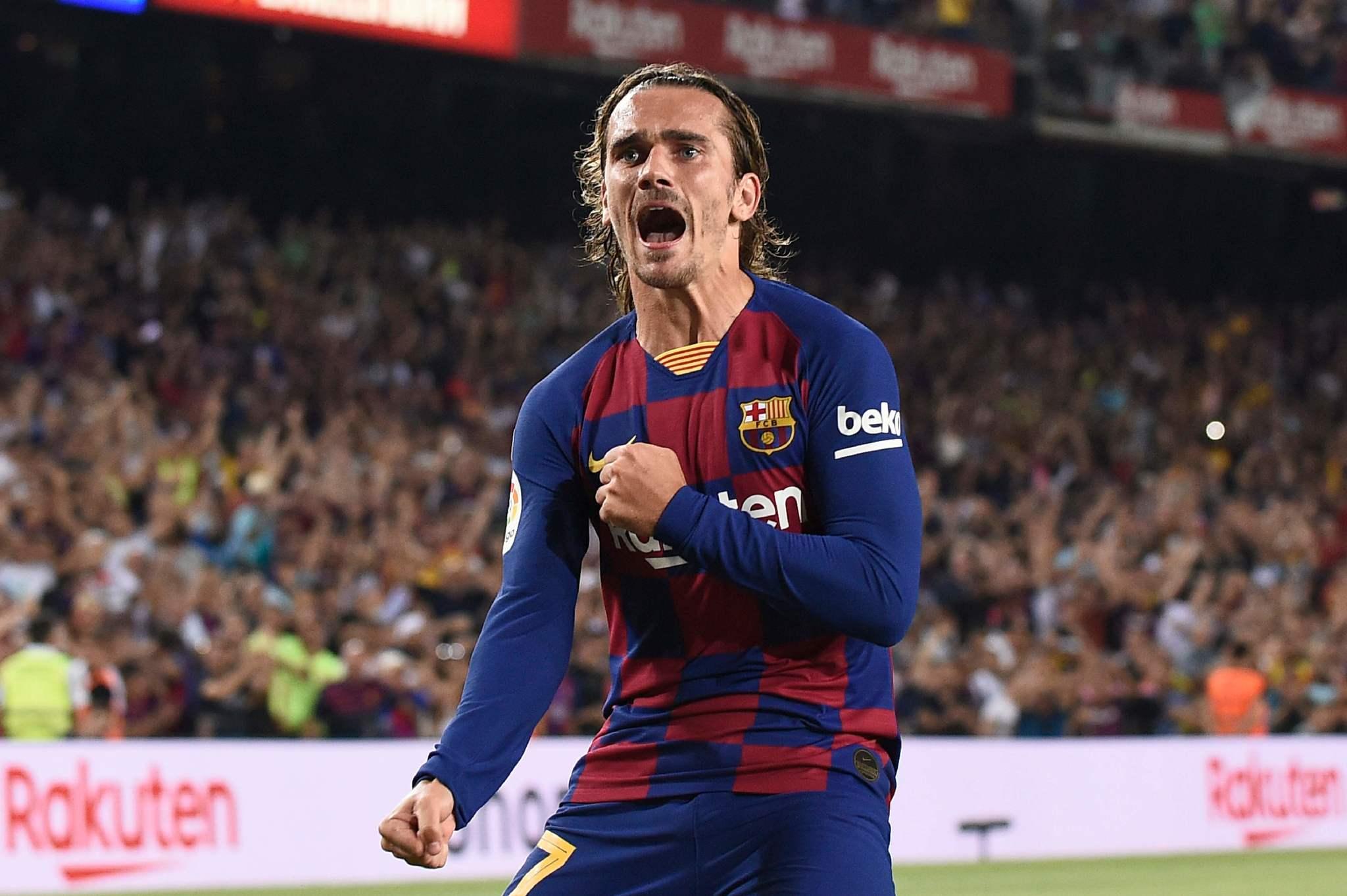 Image result for Griezmann goal for Barcelona] 2019/2020