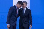 Pedro Sánchez y Mauricio Macri, el pasado noviembre en una reunión en Argentina.