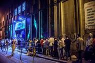 Exteriores de la Sala Santana de Bilbao donde el rapero C. Tangana ha actuado esta noche.